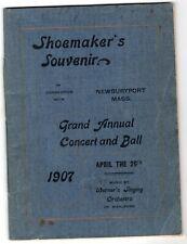 1907 Shoemaker's Convention Souvenir Booklet, Newburyport, Massachusetts