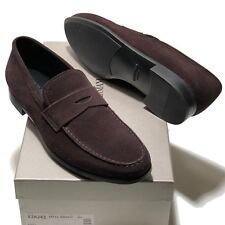4a1e700a9e7 Giorgio Armani Italy Men s Brown Suede Leather Penny Loafers Shoes 9 42  Casual