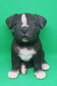STAFFORDSHIRE -STAFFY PUPPY DOG ANIMAL GARDEN STATUE ORNAMENT FIGURINE SCULPTURE