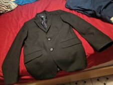 suit jacket black no tear two button slightly used