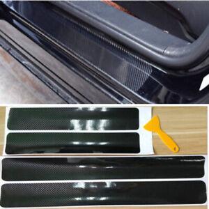 5D  Carbon Fiber Look Car Door Plate Sill Scuff Cover Sticker Anti Scratch x4