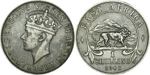 East Africa: Shilling silver 1942 H - VF