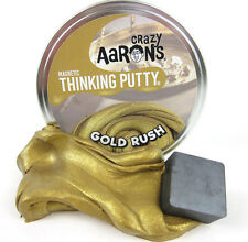 "GOLD RUSH Magnetic Crazy Aaron Thinking Putty Magnet Fidget Toy Large 4"" Tin NEW"