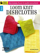 LOOM PATTERN BOOK! LOOM KNIT DISHCLOTHS! PLUS KNOOK~NEEDLE INSTRUCTION~12 CLOTH
