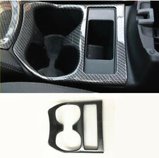 Carbon fiber style Water cup holder decoration trim cover For Nissan Rogue 2014+