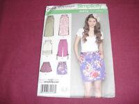 Simplicity Pattern 2258 Miss Skirt Shorts Capri Pants 2010 Sz 14-22 Uncut PullOn