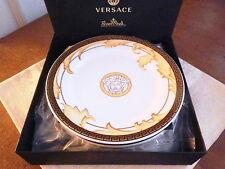 Versace Rosenthal ARABESQUE CHAMPAGNE Canape Bread Dessert Plates Set/4 NEW/BOX!
