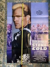 Stone Cold Brian Bosworth Movie Theater Poster - Authentic
