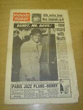 MELODY MAKER 1963 APRIL 6 SAMMY DAVIS ACKER BILK PARIS JAZZ TED HEATH VEE +