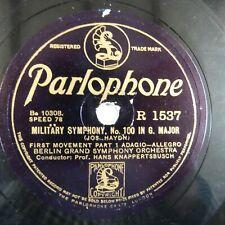 78 rpm BERLIN GRAND SYMPH ORCH-KNAPPERTSBUSCH military symph 100 in G maj R1537