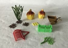 Mixed Lot of 11 Pieces Plastic Made in Hong Kong Farm + Countryside Scenery Pcs
