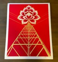 Shepard Fairey Obey FLOWER POWER Signed Numbered Screen Print