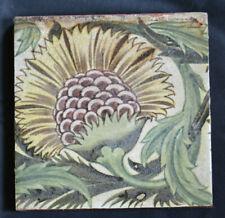 "William De Morgan Yellow BBB - 6"" Tile Poole Architectural Blank - Antique TIle"