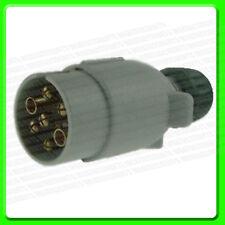 12S 7 Pin Remolque Enchufe en plástico gris [EQ124] caravana complementario Electrics 2P