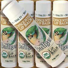 2er PACK Badger Lip Balm UNSCENTED, parfümfreier Lippenpflegestift 2x4,2g BIO