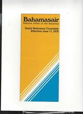 Bahamasair airlines  June 11  1979  timetable