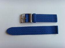 Uhrband Textil blau passend für Nomos 20 mm Perlon Perlonband Nylon Nylonband