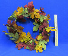Autumn Fall Colored Maple Leaf Leaves Wreath Floral Decor Thanksgiving Burlap