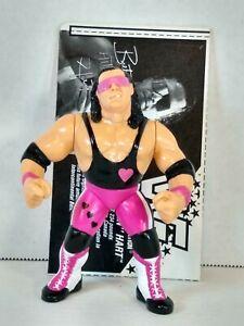 "1991 HASBRO WWF BRET ""HITMAN"" HART WITH COLLECTOR CARD WWE"