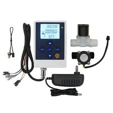 "Water Flow Control LCD Display+1/2"" Sensor Meter+1/2""Solenoid Valve+12V Power"