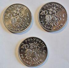 Französisch Polynesien / Australien - 3 x 20 Francs - 1975 / 1983 / 2000
