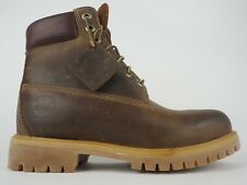 Mens Timberland 6 In Anniversary Premium Boot 27097 Brown Leather Lace Up Boots