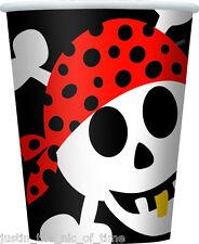 Pirata DIVERTENTE maschi o femmine Festa Di Compleanno Stoviglie Carta Coppa Coppe 9oz x8