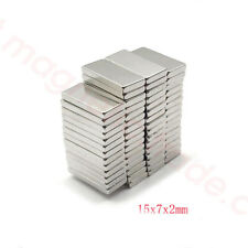 Wholesale 15x7mm x 2mm / 3mm  Block Fridge Magnets N50 Rare Earth Neodymium