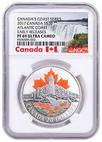 2017 Canada Atlantic Coast 1 oz Colorized Silver $20 NGC PF69 UC ER SKU49022