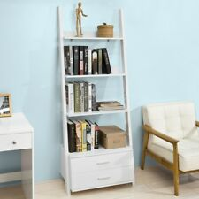 SoBuy Wood Standing Storage Shelving Bookcase Rack with Drawer White,FRG230-W,UK