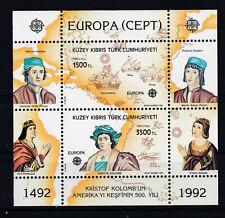 Türkisch-Zypern Block 10 Europa 500 Jahre Entdeckung Amerika Postfrisch ** MNH