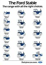 THE FORD STABLE TRACTOR RANGE SALES BROCHURE/POSTER 80's ADVERT ULTRA RARE A3