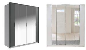 Qmax Bi-Fold & Hinged Door Wardrobe - 'Berlin' Range - German Bedroom Furniture