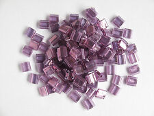 Tila Beads Transparent Amethyst Gold Lustre 10g (TL316)