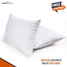 2 X Hollow Fiber Luxury Pillow Soft Comfortable Microfiber cover Extra Filled