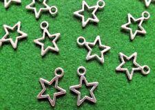 Star Antique Silver Tone Tibetan charms Christmas Craft Jewellery Magic Small