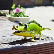 3D Hand Painted Metal Aligator Garden Ornament/Decoration/Statue  Free Standing