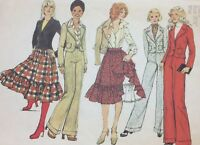 1970's VTG Simplicity Pattern 6481 Skirt Jacket & Pants Bust 311/2 Factory Fold