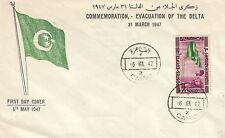 EGYPT KINGDOM , FDC 1947  Commemoration Evacuation Of The Delta , Set one Stamp