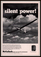 1970 A  AD  MCCULLOCH CHAIN SAW  SILENT POWER DRONE TRADE JOURNAL