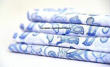 Indian Hand Block Floral Print Dressmaking Cotton Fabric Craft Sewing By 10 Yard