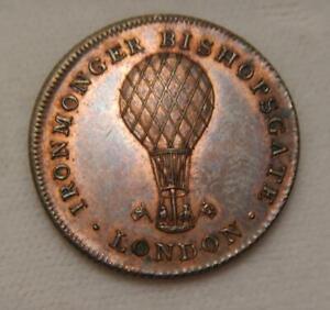 Great Britain 1826 Earlysman Sparrow Advertising Token - Hot Air Balloon