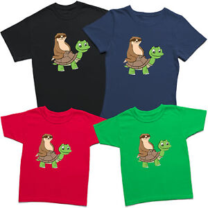Sloth On Turtle Mens Womens Kids T Shirt Funny Animal Lovers Novelty Tee Top