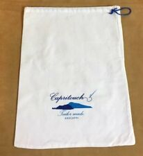 Capritouch Dust Cover, Storage Pouch, Shoe Holder, Drawstring Bag, White