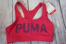 Puma Sports Bra Pink logo Power shape Pink Women's Small NWT