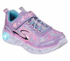 Skechers Heart Lights Kid's Youth Light Up Adjustable Shoes