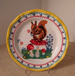 New Nathalie Lete for Anthropologie Squirrel on Toadstool Plate