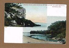 Madison,WI Wisconsin Profile Rock, Lake Mendota at the outlet of Lake Mendota