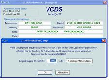 VAG Vw Audi Seat Skoda Login Code Logincode Auslesen Ermitteln Wegfahrsperre