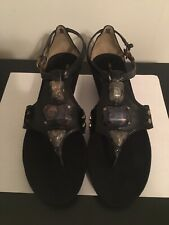 Anne Klein Leticia Black Sandals, Size:7M